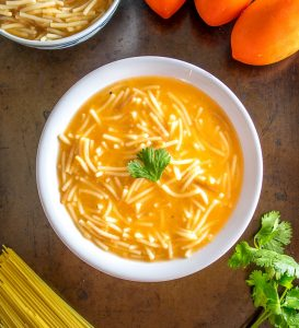 This is a great recipe to keep in mind for some comforting Sopa de Fideo -- a Mexican noodle soup made with a delicious tomato broth. So good! mexicanplease.com