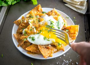 Chilaquiles with Tomatillo-Chipotle Salsa