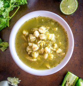 Here's an easy Pozole Verde recipe that uses roasted poblanos to give the sauce some real flavor -- so good! mexicanplease.com