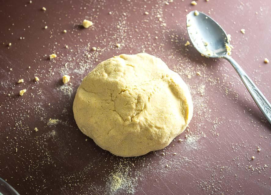 Masa Dough made from Masa Harina.