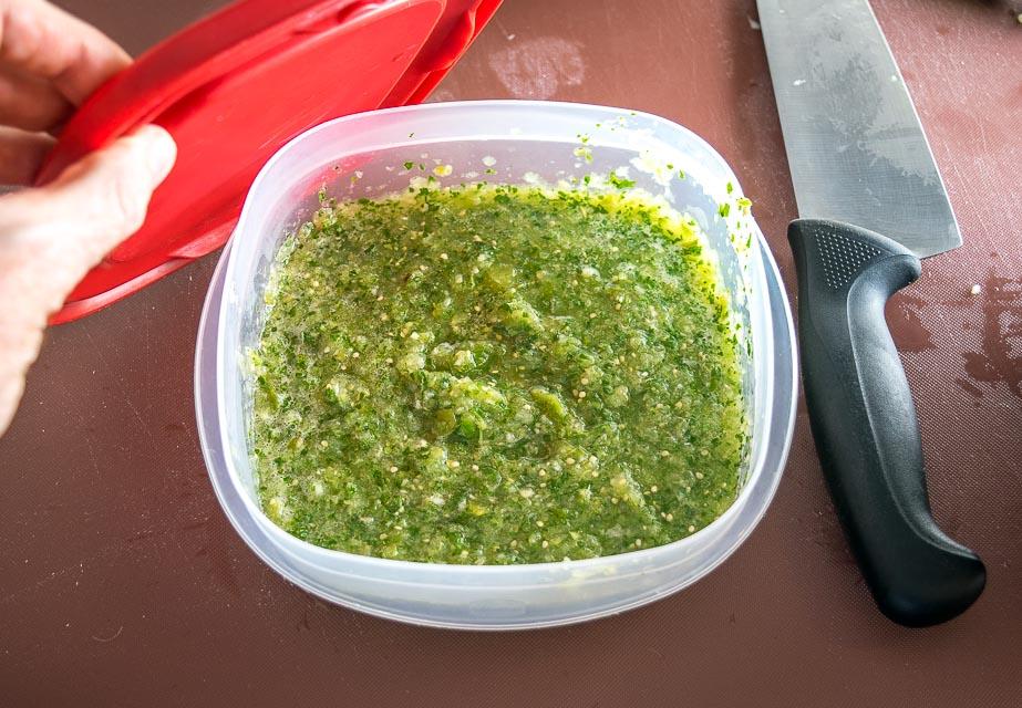 Leftover Salsa Verde