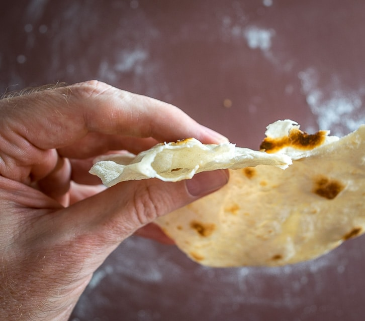 Light, flaky flour tortillas