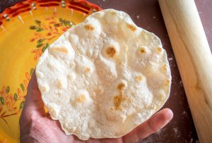 Flour Tortillas Made With Bacon Fat