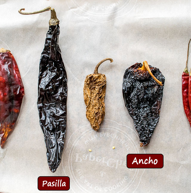 Comparing Pasilla to Ancho chili peppers