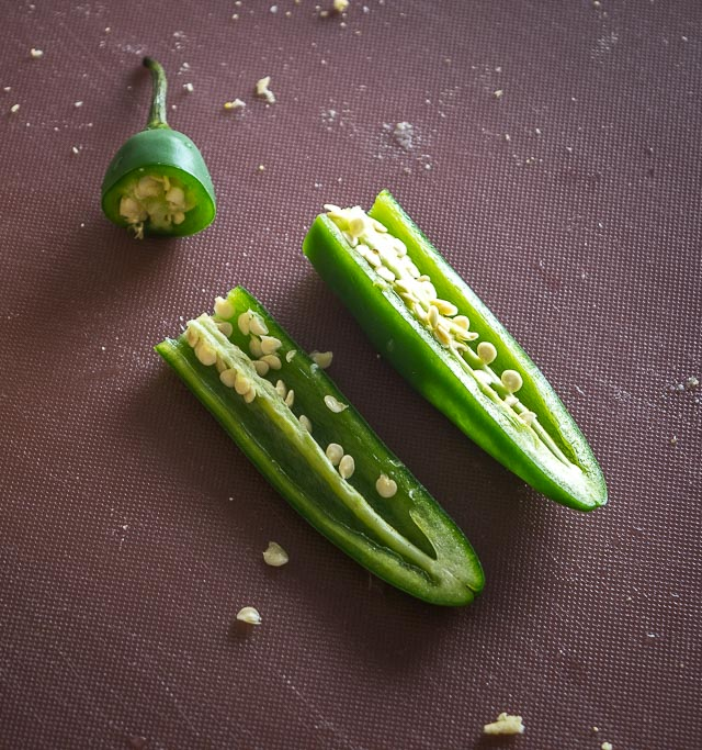 Serrano pepper for the Bacon Serrano Gorditas
