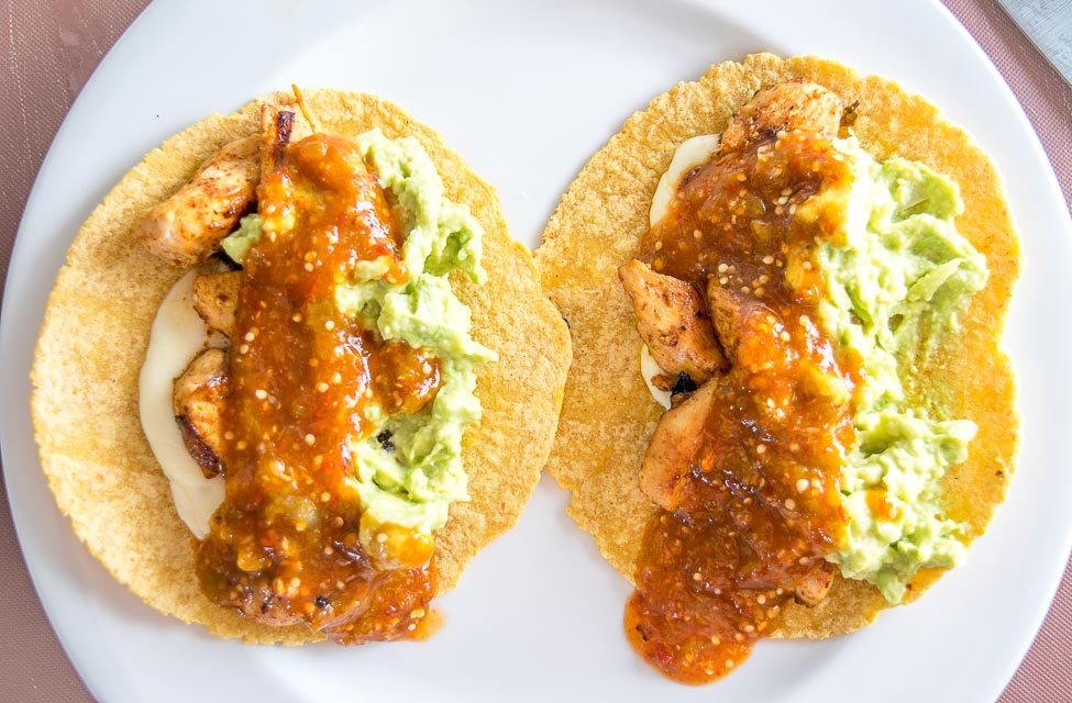 Serving easy chicken tacos.