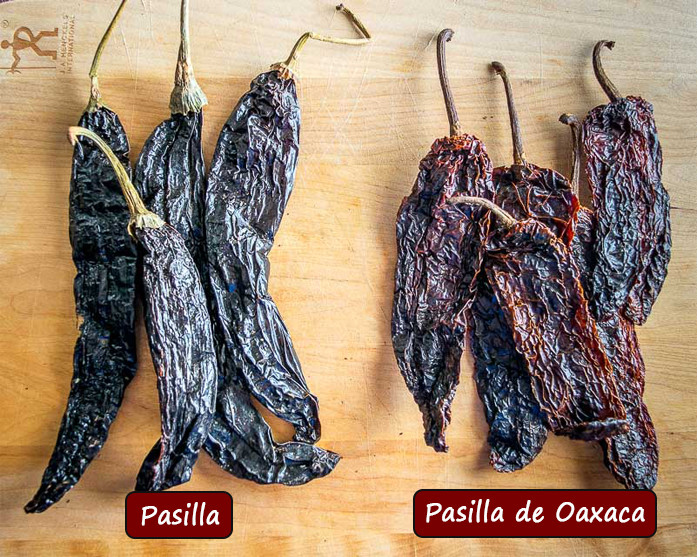 What's the difference between Pasilla and Pasilla de Oaxaca chiles?