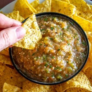 This is a delicious Salsa to add to your repertoire! It uses both tomatoes and tomatillos to create a completely unique flavor. Yum!! mexicanplease.com