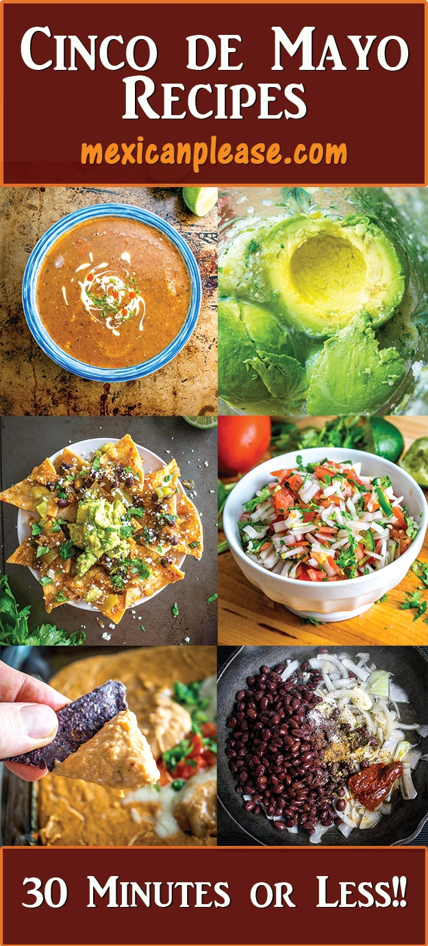 Cinco de Mayo recipes from mexicanplease.com