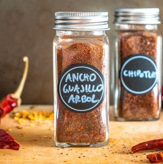 Ancho, Guajillo, Chile de Arbol chili powder