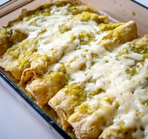 Hatch enchiladas after baking for 10 minutes