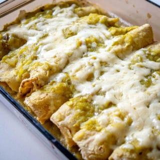 Hatch enchiladas after baking for 10 minutes
