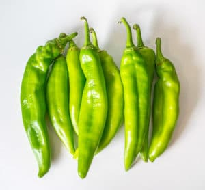 Fresh Hatch green chiles