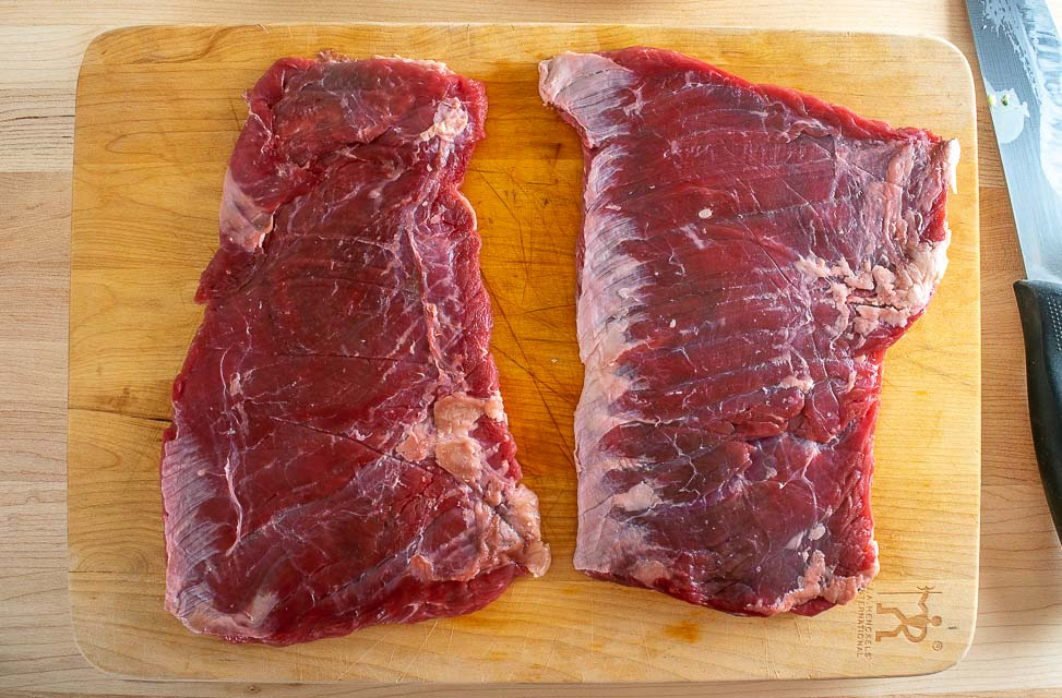 Single pound of skirt steak