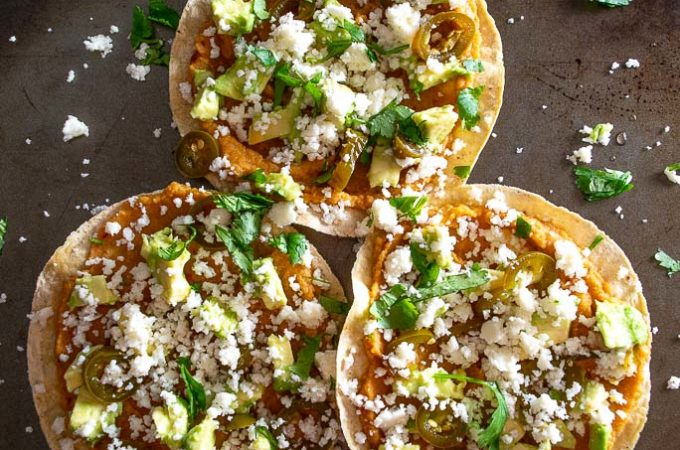 I've been munching on these Chickpea Tostadas all week! Adding some chipotle gives them great flavor and you don't need much beyond that. mexicanplease.com