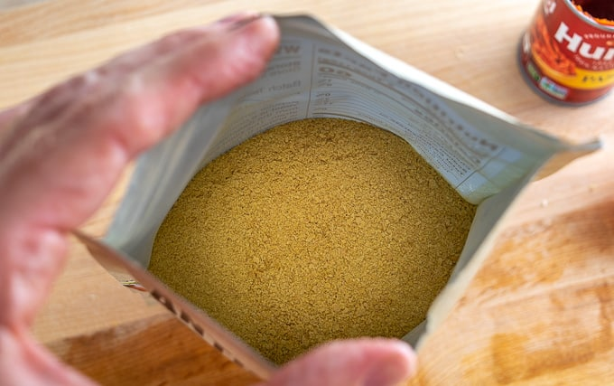 Closeup of nutritional yeast