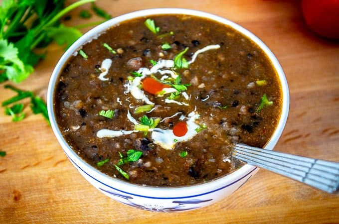 This is a trusty Mexican Bean Soup recipe that you can use with any type of bean -- but please try to make it with some stock that you trust as it makes a huge difference! I used homemade vegetable stock but chicken stock is an equally good choice. mexicanplease.com