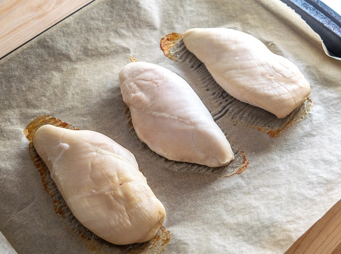 Cooking brined chicken breasts for 20 minutes in 400F oven