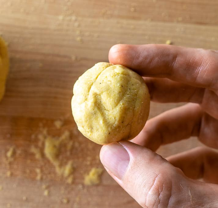 Masa dough using 2 tablespoons of lard