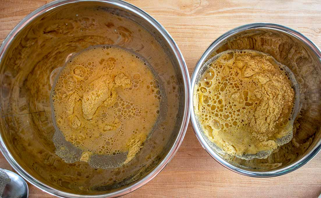 Normal batch and a batch made with lard