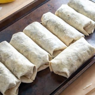 8 bean and egg burritos