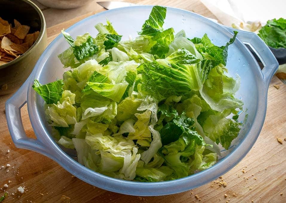 Using both Iceberg lettuce and Romaine lettuce