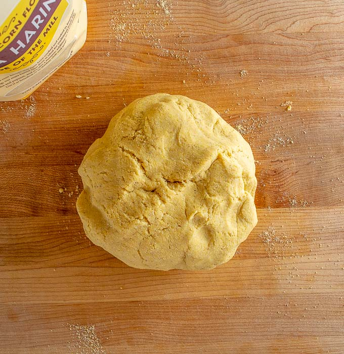 Masa dough made from Bob's Red Mill masa harina