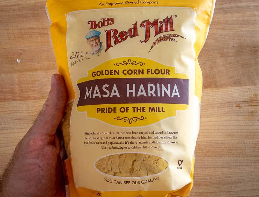Bob's Red Mill masa harina used for Sopes