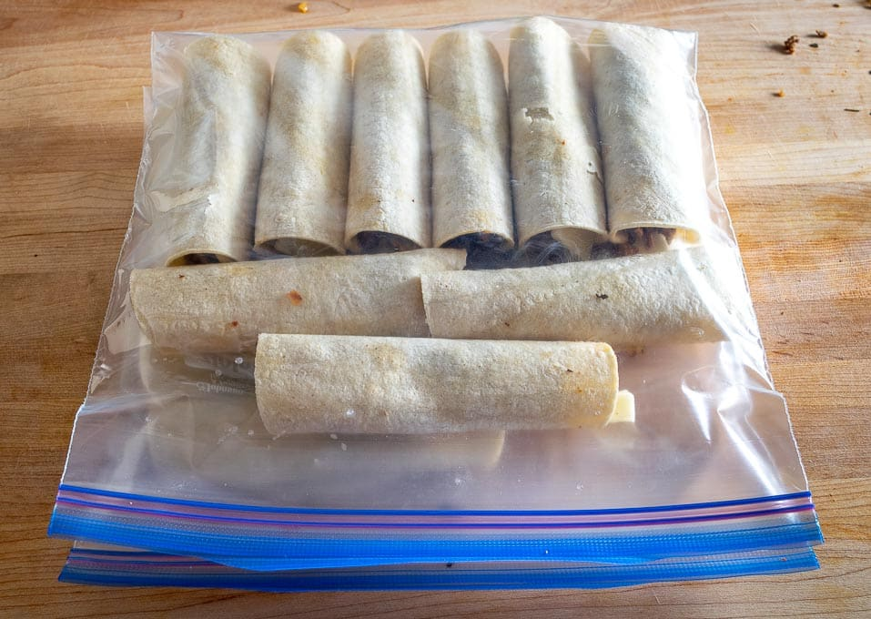 2 lbs. worth of Beef Taquitos for the freezer