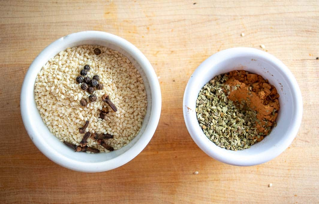 Dried spices for this batch