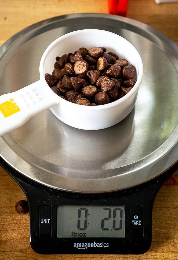 2 oz. of semi-sweet chocolate chips