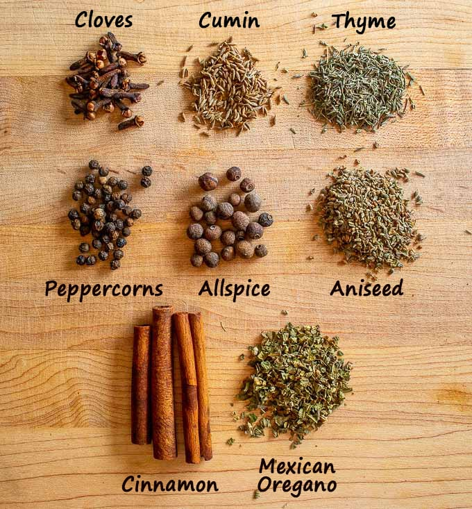 Spices for Mole sauces