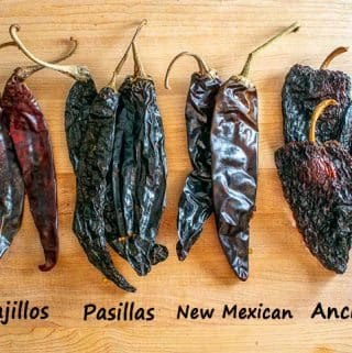 Dried chiles for Mole sauces