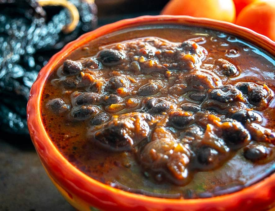 Close-up of bowl of Chili con Carne