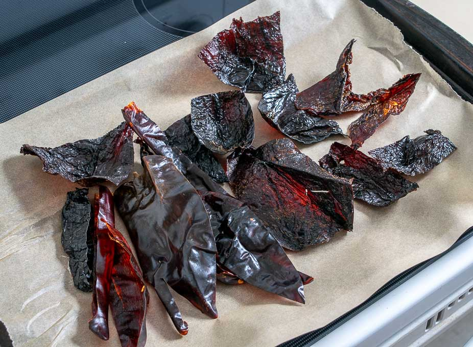 Give the dried chiles a flash roast in the oven