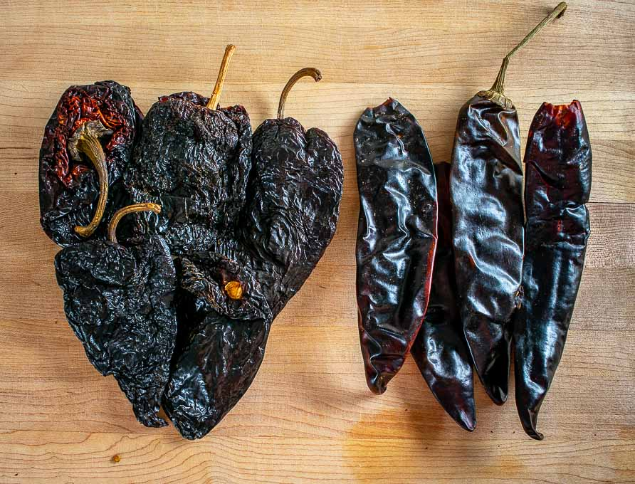 4 oz. of Ancho and New Mexican dried chiles