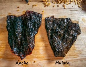 Comparing Ancho to Mulato after reconstituting