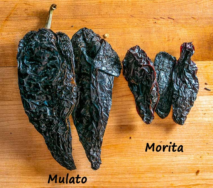 Mulato and Morita dried chiles