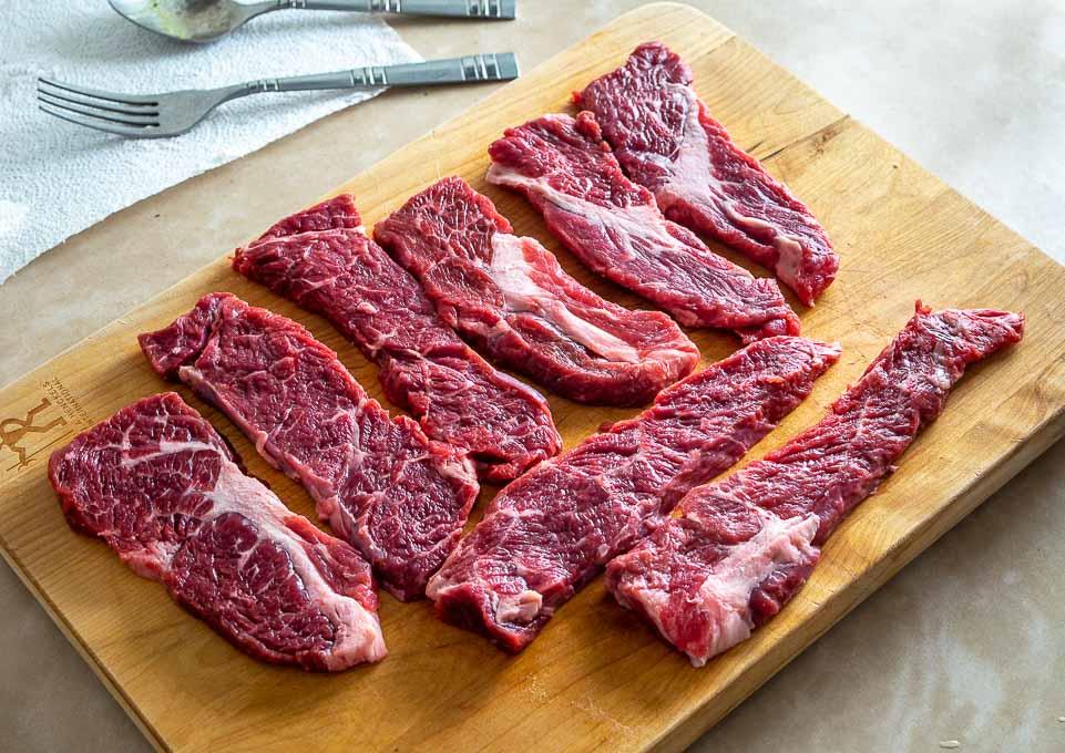 Single pound of boneless beef short ribs