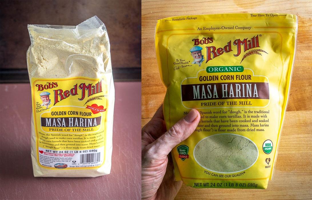 Comparing organic vs. non-organic Masa Harina options from Bob's Red Mill