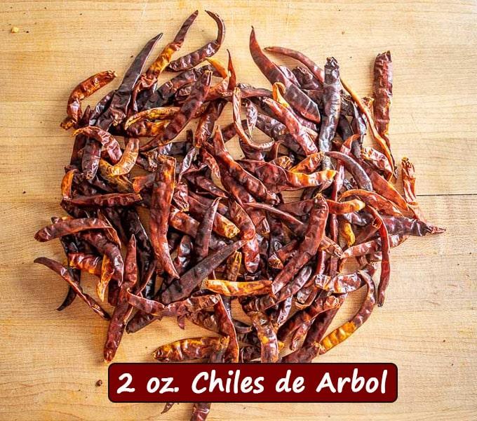 2 oz. Chiles de Arbol