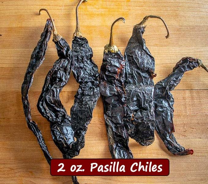 2 oz. Pasilla chiles