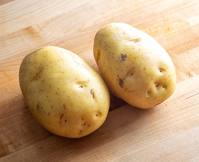 2 Gold potatoes for Mexican Pickled Papas