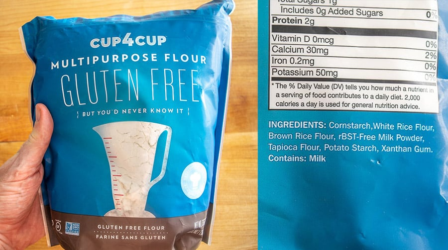 Cup4Cup package and ingredients