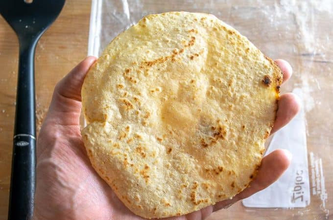 I keep seeing these Half and Half Tortillas in my neighborhood and decided to experiment with my own recipe -- I'm glad I did because they were delicious! mexicanplease.com