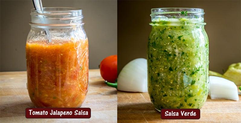 Tomato Jalapeno Salsa vs. Salsa Verde