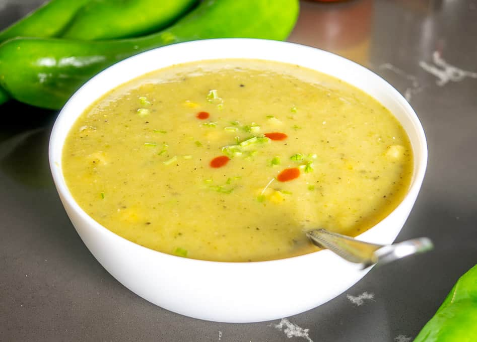 Got Hatch Chiles laying around? You can easily whip up a delicious Hatch Chile Soup for some quick meals. But consider yourself warned, this soup is spicy!